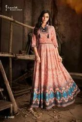 Rayon Party wear Floor Length Anarkali Suits