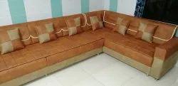 Office Sofa Set, Seating Capacity: 7 Seater, Shape: L Shape