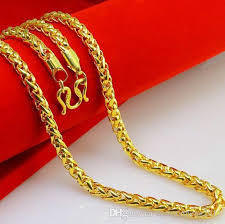 New Hot Pure Solid 999 24K Yellow Gold Chain Women Curb Link at Rs ... a565b816ac