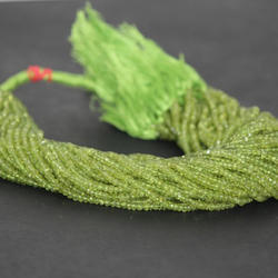 Natural Peridot Faceted Rondelle Beads