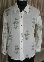 100% Cotton Printed Women Shirts