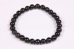 Black Onyx Beaded Rubber Bracelet