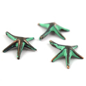 Starfish Brass Patina Charms