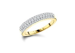 Round Diamond Party Wear Ring