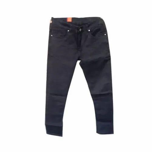 Mens Black Cotton Jeans, Waist Size: 30-40