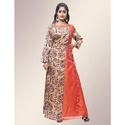 Orange Manipuri Printed Floor Length Kurti, Size: M To Xxl