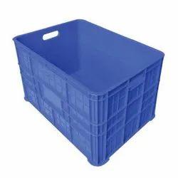 Supreme Rectangular Blue Plastic Crates
