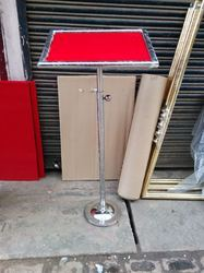 Stainless Steel Single Pole Lecture Podium