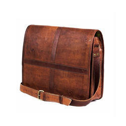 Full Flap Laptop Leather Bag