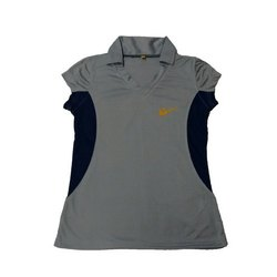 Polyester Half Sleeves Ladies Sports T-Shirt, Size: XL