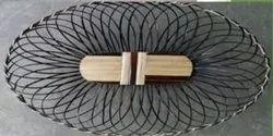 BAMBOO OVAL BROWN BASKET, For Decoration