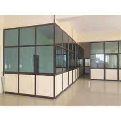 Jindal Simple 2.5 * 1.5 Aluminum Office Partitions, For Along With Fix Partition, Type Of Door: 45mm Indian Door
