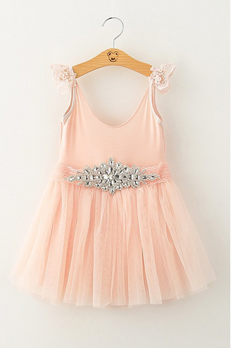 413f9f0a4 Shopoli Baby Chiffion Princess Dress With Rhinestone Belt Flower Girls  Dresses For Party And Wedding