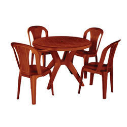 Brown Round Plastic Dinning Table