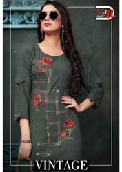 Heavy Party Wear Rayon Kurti for Womens
