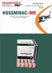 Aceclofenac 100mg   Paracetamol 325mg   Chlorzoxazone 500mg