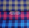 Indigo Check 100% Cotton Yarn Dyed