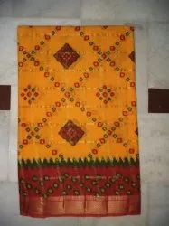 Printed Cotton Gharchola Saree