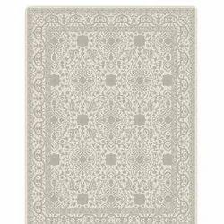 印花矩形黄麻地毯,尺寸:5 X 8英尺