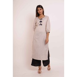 Straight Cotton Kurti With Palazzo