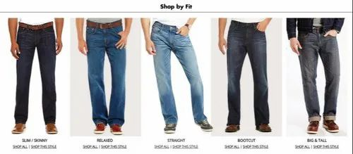 Comfort Fit Casual Mens Jeans, Features: Comfort Fit