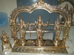 Sri Ram, Sita Lakshmanar & Anjaneyar Panchaloham Statue