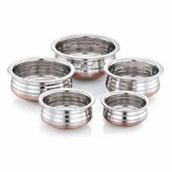 Round Urli Copper Bottom Stainless Steel