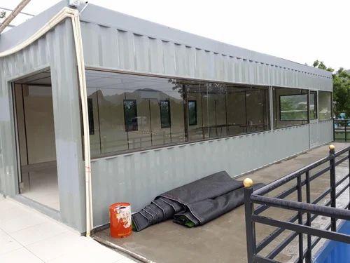 Steel Prefabricated Office Container, Use: House U0026 Kiosk