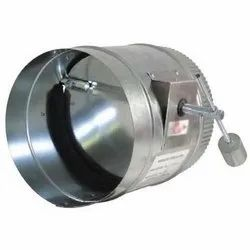 AIR SPACE Stainless Steel Round Duct Damper, Shape: Rounded