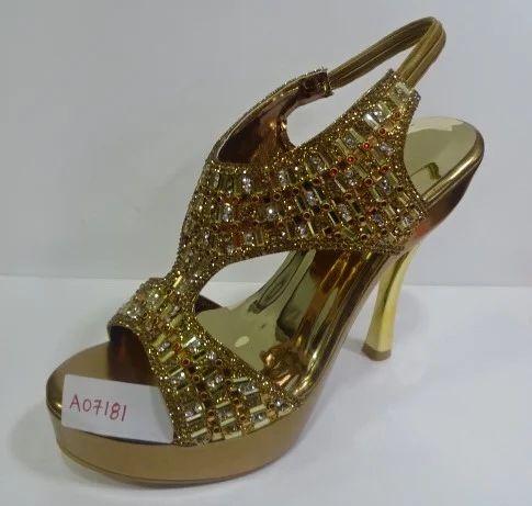 Ladies Fancy High Heels Sandals, Size