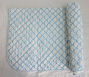 Hand Block Printed Cotton Baby Quilt With Surgical Cotton