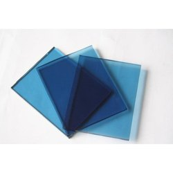 Plain Blue Reflective Glass