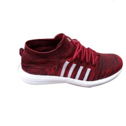 Asken Atelier Mens Maroon Mesh Shoes, Size: 6-10