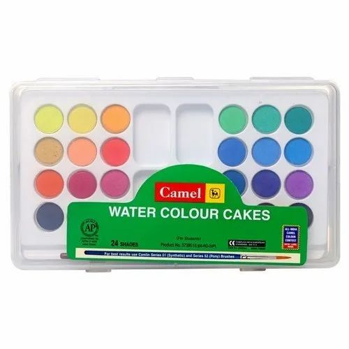 Camel Watercolor Cakes, Packaging Type: Box