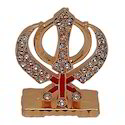 Gold Plated Ik Onkar Car Dashboard Statue Gift Item