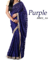 Modern Phulkari Saree