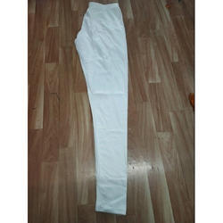 Ladies White Ankle Length Legging