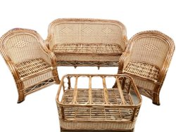 Natural 5 Seater Cane Sofa Set