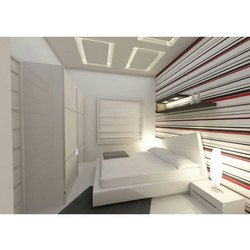 Marine Plywood White Hotel Modern Bed, Size: 5x6 Feet