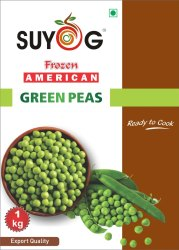 SUYOG A Grade Frozen Green Peas, Packaging Size: 20 Kg, Iqf