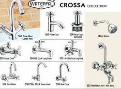 Silver Brass Wash Basin Mixer Tap