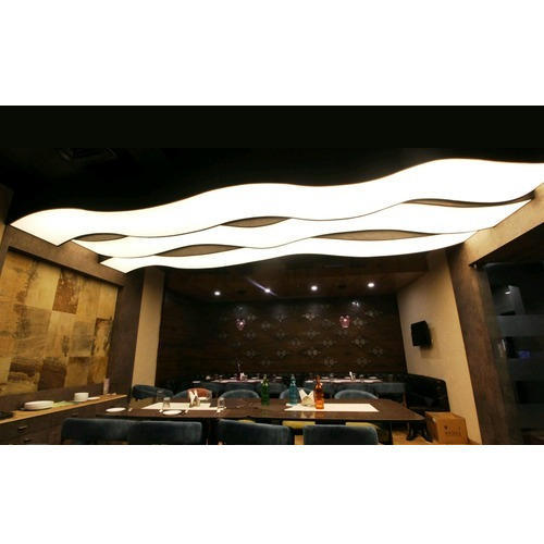 Plywood And Pvc Translucent Stretch Fabric Ceiling