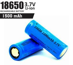 18650 Li-ion Battery Cell (1500mAh)
