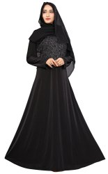 Women's Lycra Abaya Burka With Hijab Scarf