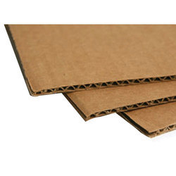 Brown and White Paper Corrugated Cardboard Sheet, GSM: 100 Gsm To 250 Gsm, Thickness: 1.8 Mm To 10 Mm