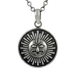 Created Sterling Silver Jewelry Sun Pendant