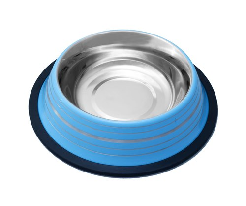 Colored Anti-Skid Bowl with Silver Linings