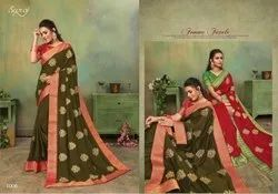 Festive Wear Designer Vichitra Silk Saree