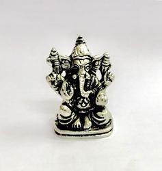 White Metal Car Dashboard Ganesha