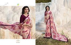 Vinay Sheesha Starwalk-40 Series 20221-20227 Stylish Party Wear Georgette Saree